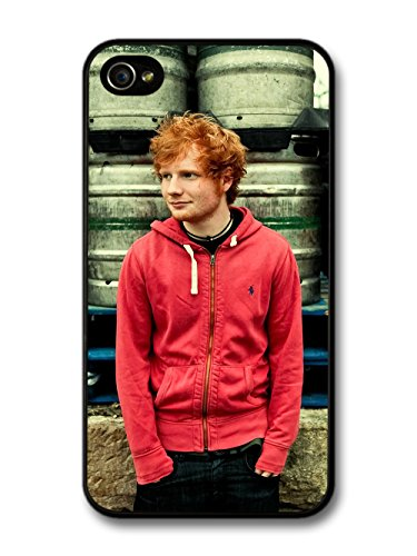 Ed Sheeran Red Hoodie Posing coque pour iPhone 4 4S