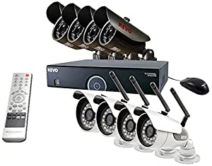 Revo Revo 4-Channel Surveillance System with Wireless Bullet Camera by REVOL