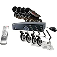 REVO America R165WB4EB4E-2T 16 CH 2 TB DVR Surveillance System with 4 Wireless Bullet Cameras and 4 Wired Bullet Cameras (Black)