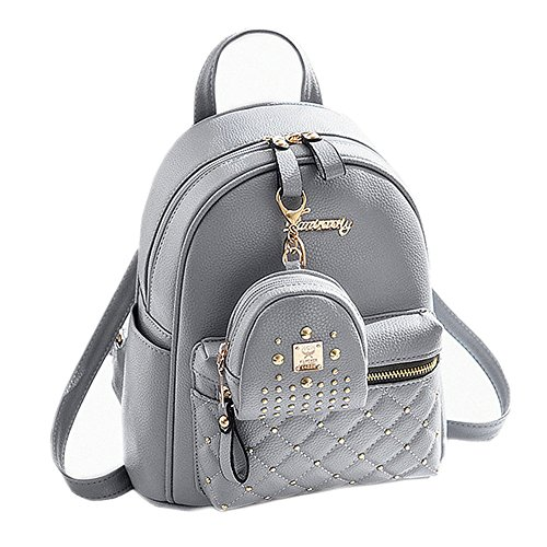 5b19e2dea9cf27 Cute Small Backpack Mini Purse Casual Daypacks Leather for Teen and Women  Gray. by lcfun. Color  Gray. product-variation. product-variation. product-  ...