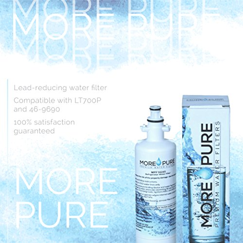 MORE Pure MPF16245 Refrigerator Water Filter Compatible with LG LT700P, Kenmore Elite 46-9690 by MORE Pure Filters (Image #4)