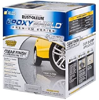 Rust Oleum 292514 Epoxy Shield Premium Series Clear Floor Coating Kit,