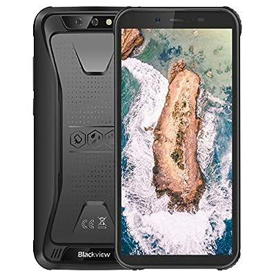Blackview BV5500 Smartphone robusto Android 8.1 3G, IP68 impermeabile/antiurto/antipolvere, 1,3 GHz 2 GB + 16 GB, 5,5″HD + Schermo, 5MP + 8MP doppia fotocamera, 4400 mAh GPS – Nero