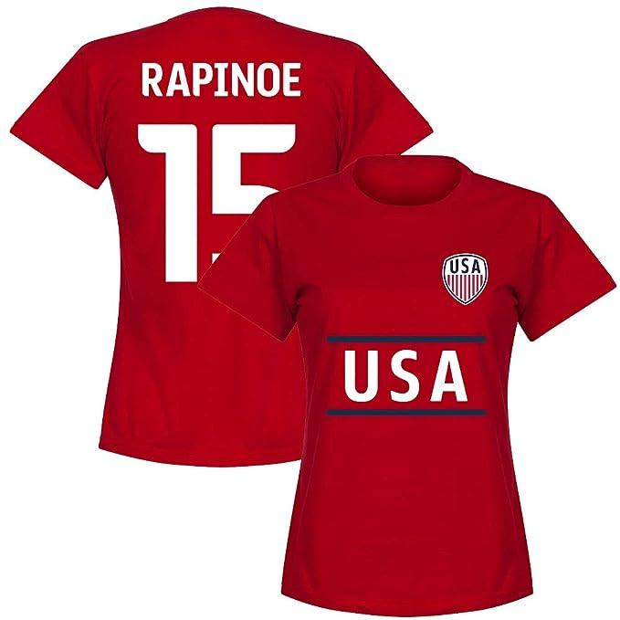 USA Team Rapinoe 15 Bianco Maglietta da Donna Colore