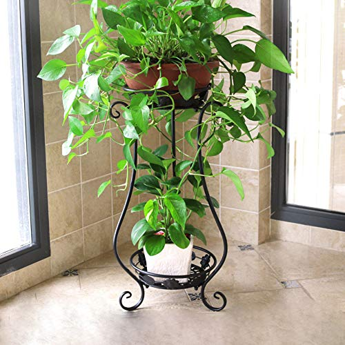 Binge & Metal Tall Plant Stand Indoor/OutdoorIron Art Flower Pot Holder Small Plant HoldersFlower Pot Stand Flower Pot SupportingPotted Plant Stand Plant ...