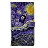 Blue Police Call Box Doctor Who Tardis Starry Night Pattern Leather Wallet Card Flip Stand Case Cover For Apple iphone 6 /iphone 6S New 2015