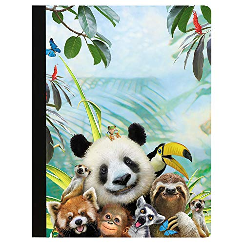 Tree-Free Greetings Zoo Selfie Soft Cover 140 Page  College Ruled Notebook, 9.75 x 7.25 Inches (CJ47359)