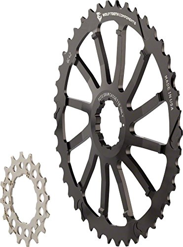 Wolf Tooth Components GC 42 Cog and 16T Cog Bundle: For Shimano 11-36 10-speed cassettes, Black (Cassette Replace Bike)