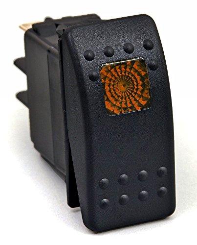 Universal Rocker Switch Orange/Amber Light Dash Panel Switch 3pin 12V 20 Amp [ROR1003]