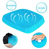 Gel Seat Cushion,Honeycomb Design Cushion Super Breathable Gel Cushion Body Pressure Distribution Portable Gel Seat Cushion for Back Pain Suitable for Home Office Chair Car Seat Cushion