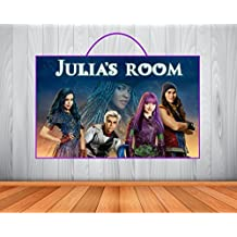 Personalized Descendants 2 with Uma Sign, Descendants 2 with Uma Personalized Wooden Name Sign, Descendants 2 with Uma Room Decor, Descendants 2 with Uma Birthday Gift, Wall Art
