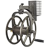 Liberty Garden Products 712 Single Arm Navigator Multi-Directional Garden Hose Reel, Holds 125-Feet of 5/8-Inch Hose - Bronze