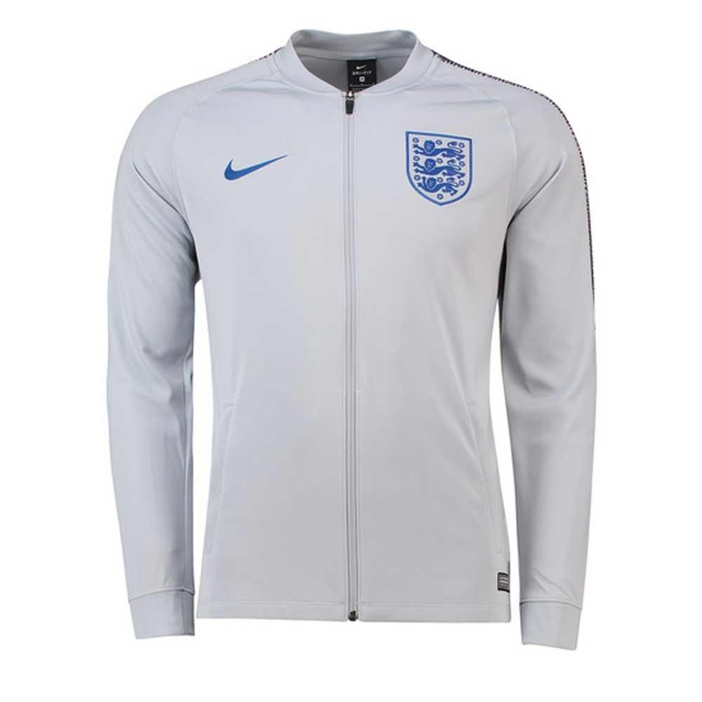 2018-2019 England Nike Squad Track Jacket (Grey) B07BS1JSXWGrey Large 42-44\