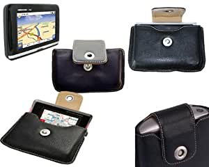 Amazon.com: Leather Case Medion: GPS carry case for E4110 ...