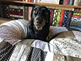 Handmade Patchwork Dog Bed - S-Small, Small, Medium, Large and X-Large