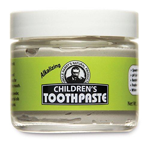 Uncle Harry's Fluoride Free Children's Toothpaste (Mild Spearmint), 3 oz glass jar