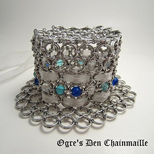Chainmaille Beaded Tiny Hat by Ogre's Den Chainmaille
