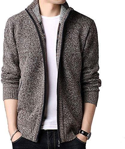 カーディガン メンズ ニット ジャケット カジュアル コート 大きいサイズ ニット 秋冬服 裏起毛 暖かい ニットカーディガン メンズ ジップアップ ハイネック セータージャケット