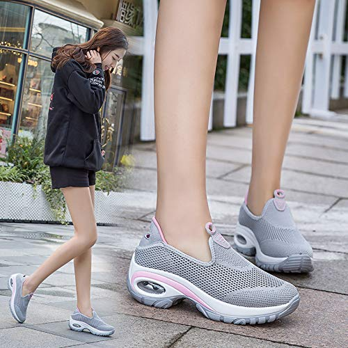 Zapatos vuelan Las Las de de Casuales de Aire Nuevos Libre Transpirables Que Zapatillas Deporte para Zapatos al Mujer Caminar Zapatos Mujeres Hasag cómodos wW16YfqXW