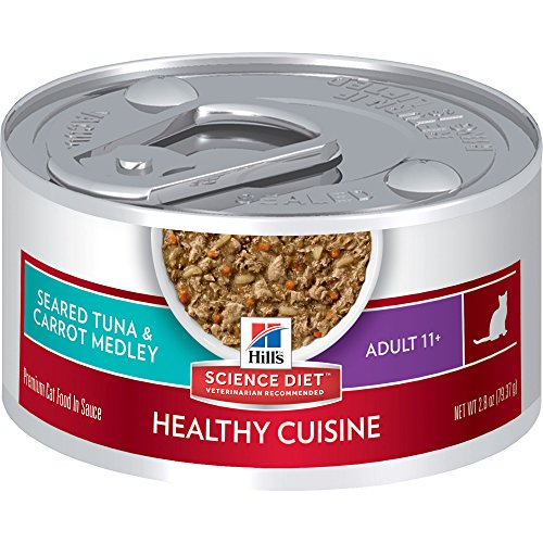 hills-science-diet-adult-11-healthy-cuisine-seared-tuna-carrot-medley-canned-cat-food-28-oz-24-pack