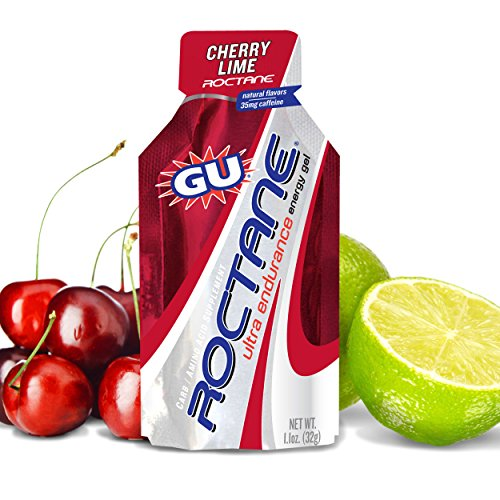 GU Roctane Ultra Endurance Energy Gel, Cherry Lime, 8-Count