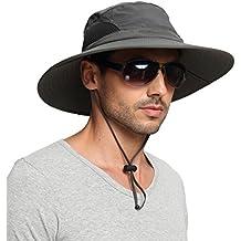 EINSKEY Sun Hat for Men/Women, Outdoor Sun Protection Wide Brim Bucket Hat Waterproof Breathable Packable Boonie Hat for Safari Fishing Beach Golf