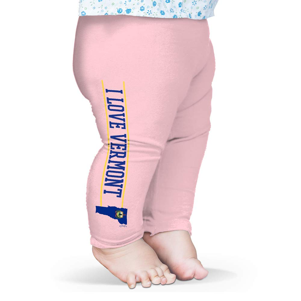Twisted Envy I Love Vermont State Flag Baby Printed Leggings Trousers