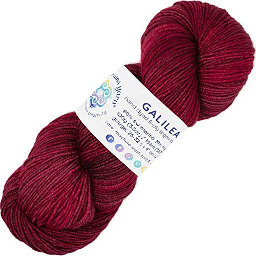 Living Dreams Yarn GALILEA. Colorful SuperWash Merino Sock Yarn. Super Soft and Strong. Hand Dyed to Perfection: Mars