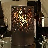 Sunnydaze Brown Astratto Ventless Bio Ethanol Tabletop Fireplace