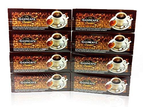 Gano Excel GanoCafe Classic Instant Black Healthy Coffee Ganoderma Lucidum Extract ( 1 Box = 30 sachets ) (8x30)