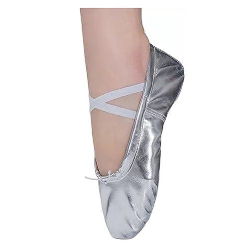Zapatos de Ballet para Niña Mujer Cuero Zapatillas de Baile Tallas 22-44: Amazon.es: Zapatos y complementos