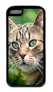 Distinct Waterproof Stare At The Cat Design Your Own for iphone 5c Case