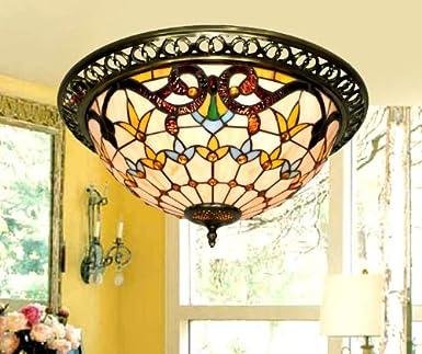 Tiffany Deckenleuchten Schlafzimmer European Style Gartenrestaurant Studie Lampe Licht Wohnzimmer Lampen Mode