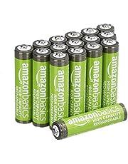 Amazon Basics – AAA-batterijen met hoge capaciteit, oplaadbaar, 850 mAh (16 stuks), voorgeladen