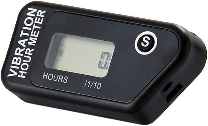 Digital Engine Stunde Meter komplett wasserfest zur/ücksetzbar Vibration Stunde kabellos f/ür alle vibrierender Maschine Motocross Marine Motorrad