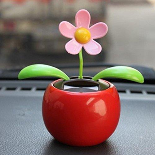 4901386423209c Veepola New Plastic Solar Powered Dancing Flowers Toy Flip Flap Solar Flower  Car Decoration