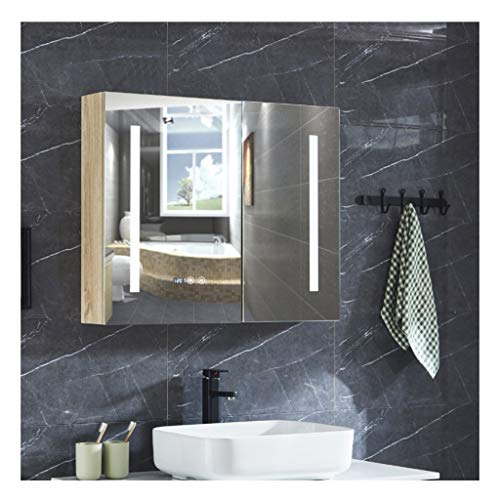 XCJ Bathroom Cabinet Mirror Cabinet LED Illuminated Bathroom Mirrors, LED Illuminated Bathroom -