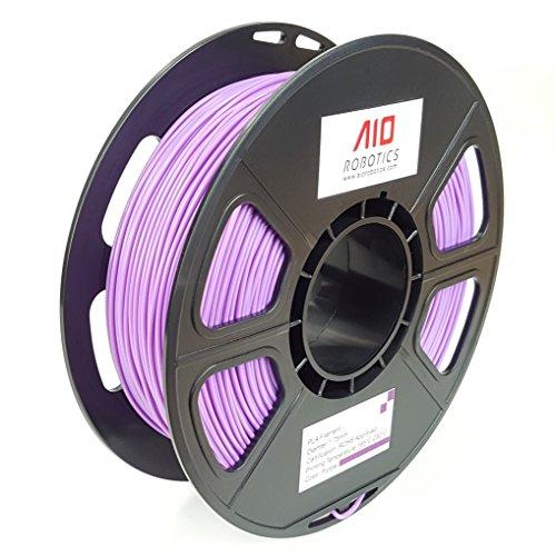 AIO Robotics AIOPURPLE PLA 3D Printer Filament, 0.5 kg Spool, Dimensional Accuracy +/- 0.02 mm, 1.75 mm, Purple