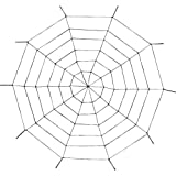 Giant Rope Spider Web - 5 Feet X 5 Feet