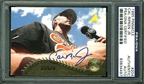 Bell Sports Orioles Cal Ripken Jr. Signed Card 1995 Pinna...