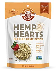Manitoba Harvest Hemp Hearts Raw Shelled Hemp Seeds, Natural, 1 Pound