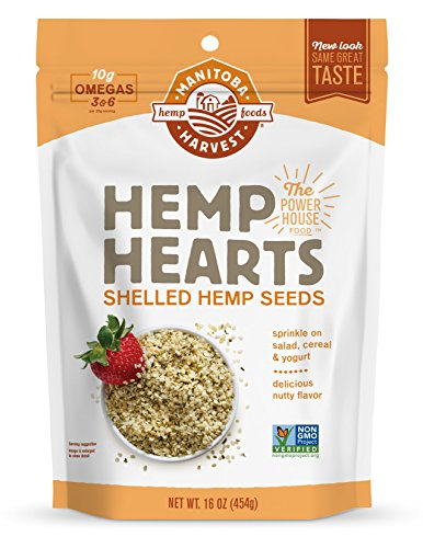 Manitoba Harvest Hemp Hearts Raw Shelled Hemp Seeds, 1lb; with 10g Protein & Omegas per Serving, Non-GMO, Gluten Free - Packagin