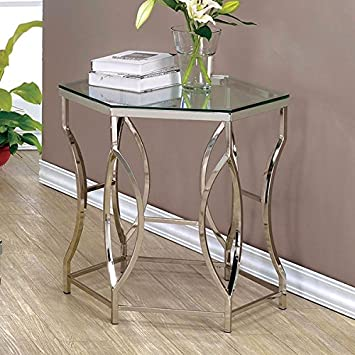 Amazoncom End Table Side Table Specialty Contemporary Chrome - 26 high end table