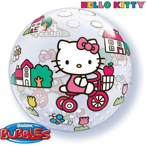 Hello Kitty Riding Bike Bubble Balloon 22