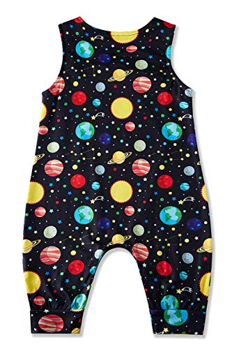 Kids4ever Baby Girl Boy Romper Sleeveless Jumpsuit Planet Onesies Infant Clothes 6-12 Months