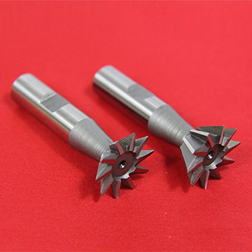 2 PC 1/2'' X 45° & 1/2'' X 60° DOVETAIL CUTTER SET HIGH SPEED STEEL HSS MILLING by All Industrial