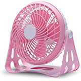 Office Desk Laptop PC Portable USB Cable Mini Cooling Fan (Pink)