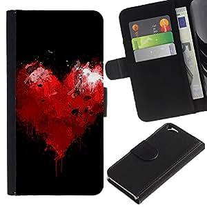 JackGot ( Cuore residua ) Apple (4.7 inches!!!) iPhone 6 / 6S la tarjeta de Crédito Slots PU Funda de cuero Monedero caso cubierta de piel