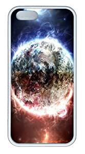 coolest covers Magnetic Field Planet TPU White Case for iphone 5/5S