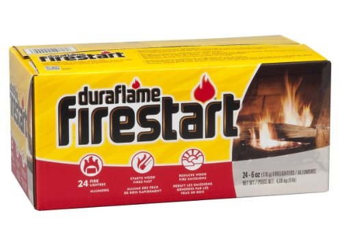 Fireplace Log Starter (Duraflame 2444 Firestart Firelighters, 24-Pack)